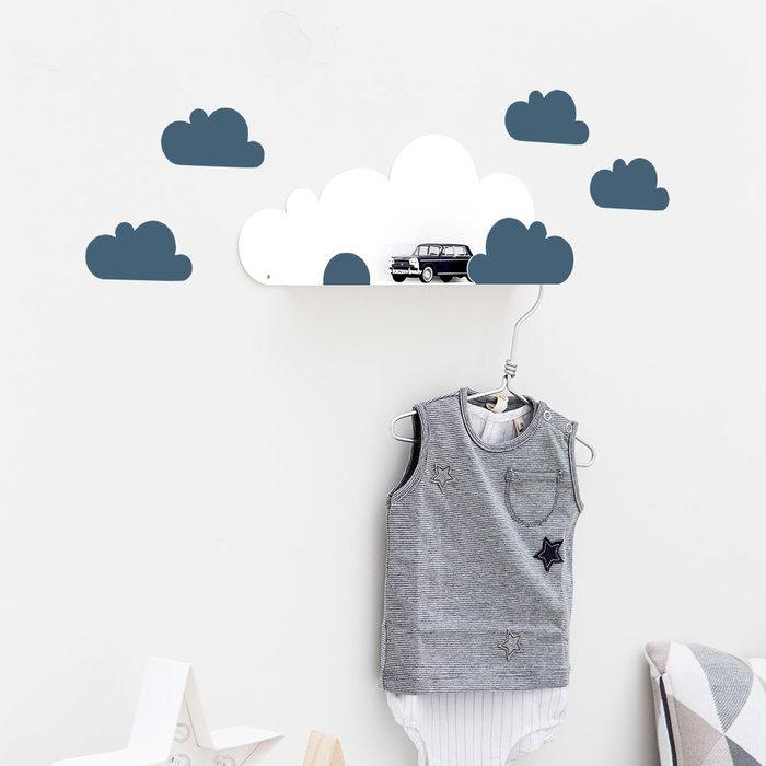 西班牙 Tresxics|綿綿雲朵造型裝飾架(深藍)