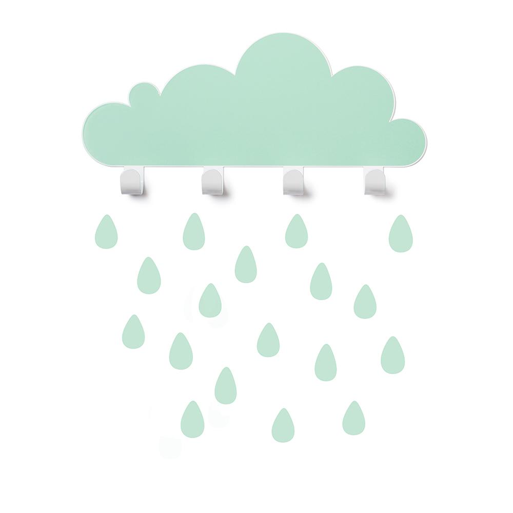 西班牙 Tresxics 大雲朵小雨滴掛勾(綠)