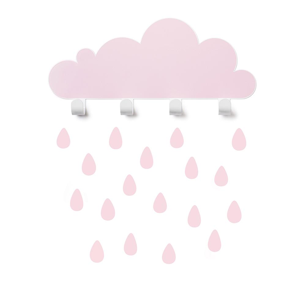 西班牙 Tresxics 大雲朵小雨滴掛勾(粉紅)
