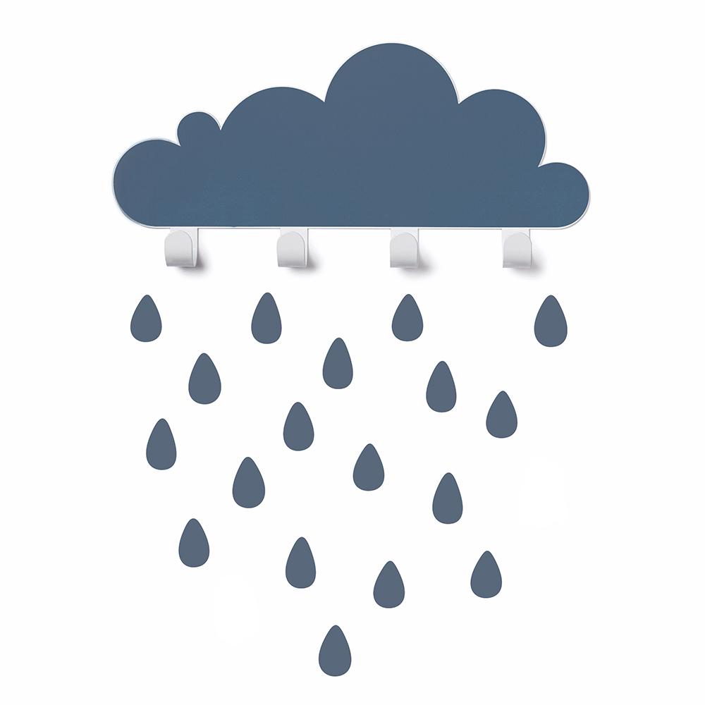 西班牙 Tresxics|大雲朵小雨滴掛勾(深藍)