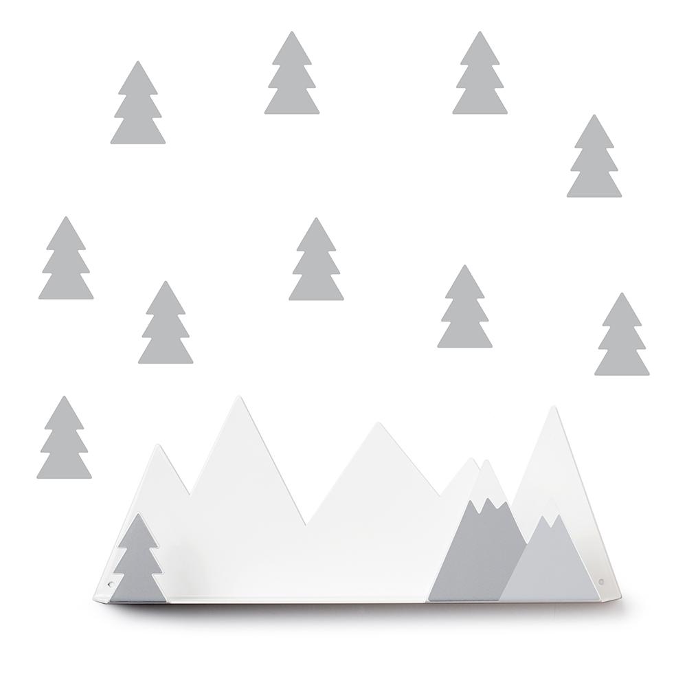 西班牙 Tresxics|綿延小山造型裝飾架(灰)