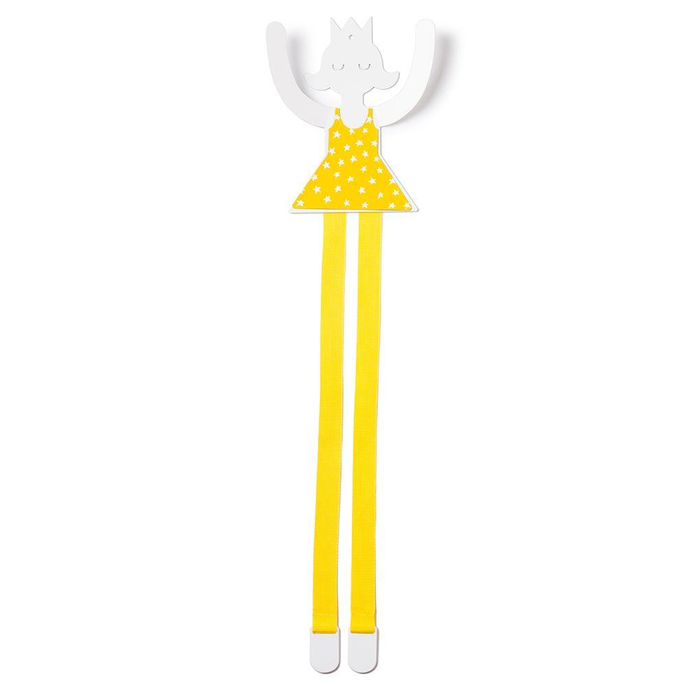 西班牙 Tresxics|小公主髮飾收納掛勾(黃)