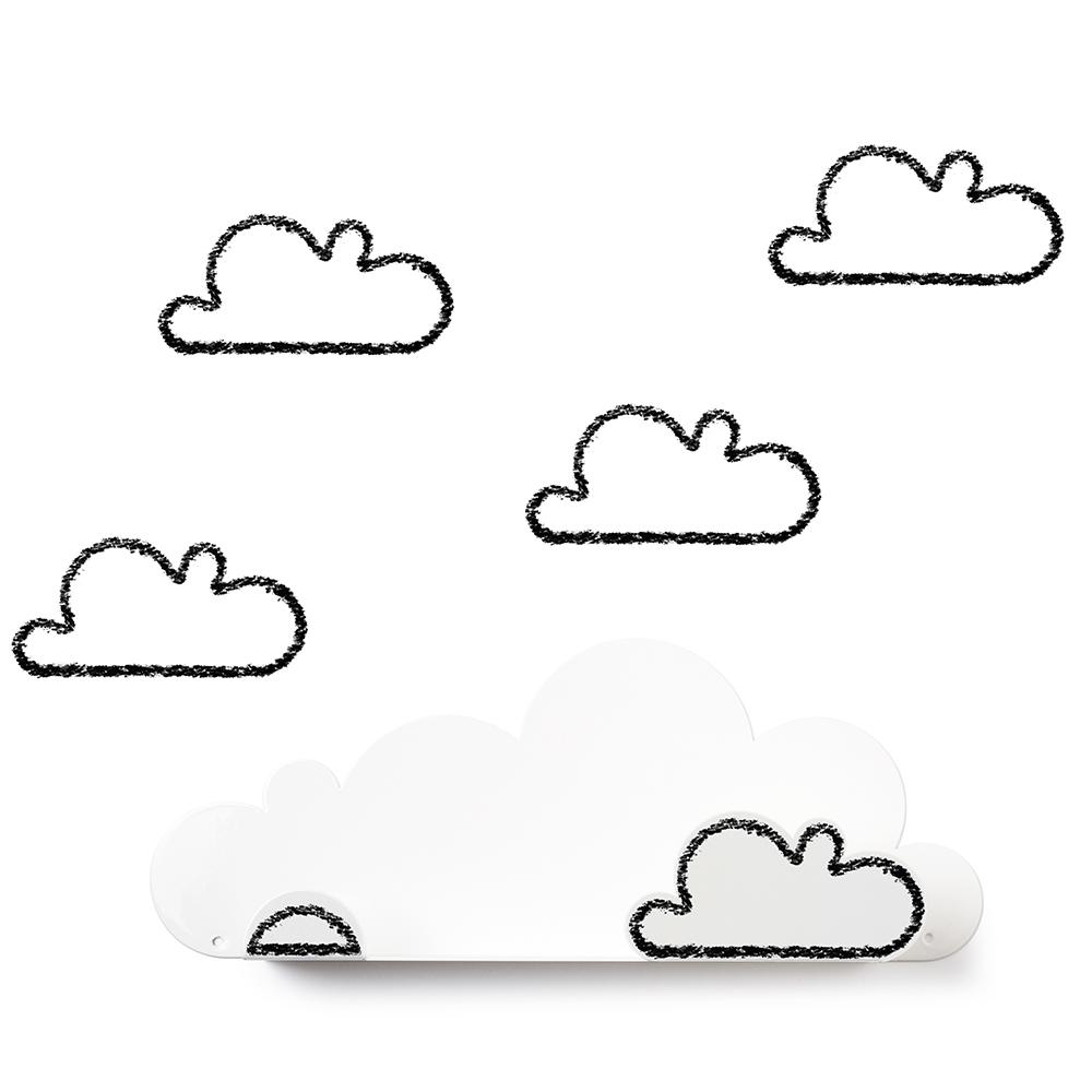 西班牙 Tresxics|綿綿雲朵造型裝飾架(白)