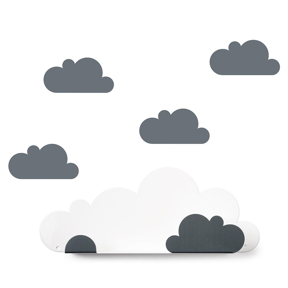西班牙 Tresxics|綿綿雲朵造型裝飾架(灰)