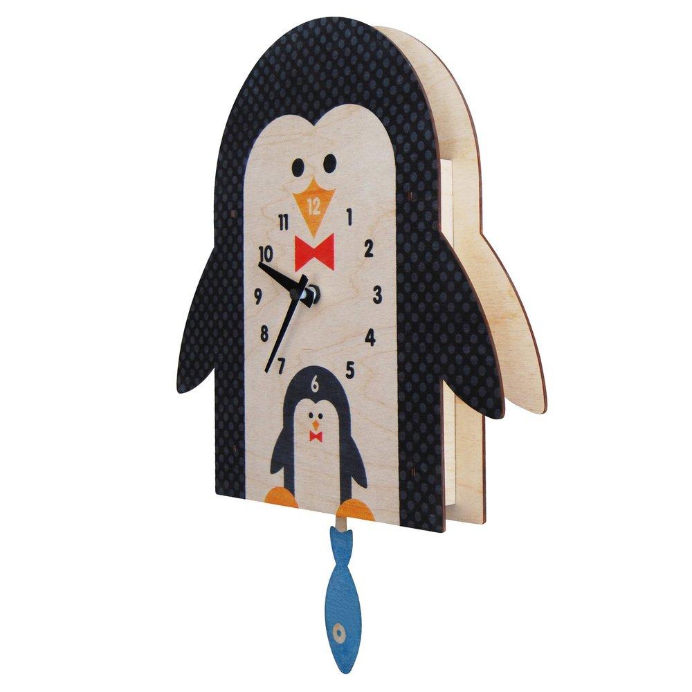美國Modern Moose | 企鵝 3D立體擺鐘