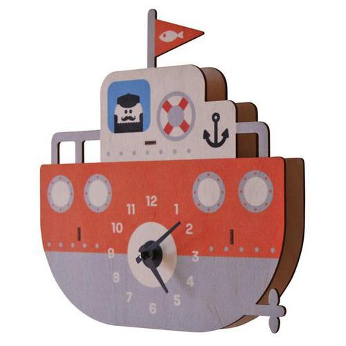 美國Modern Moose | 小船 3D立體掛鐘