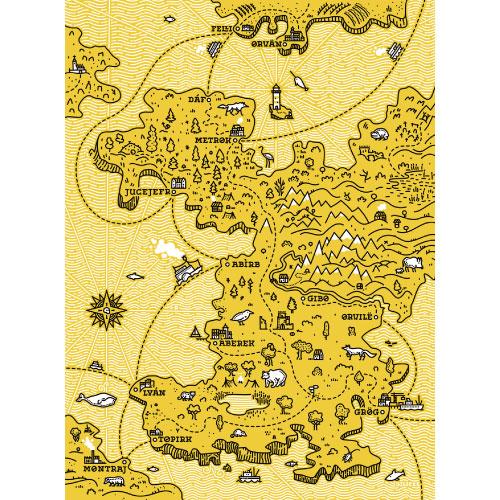YKRA│匈牙利手工帆布包 - 限量地圖款