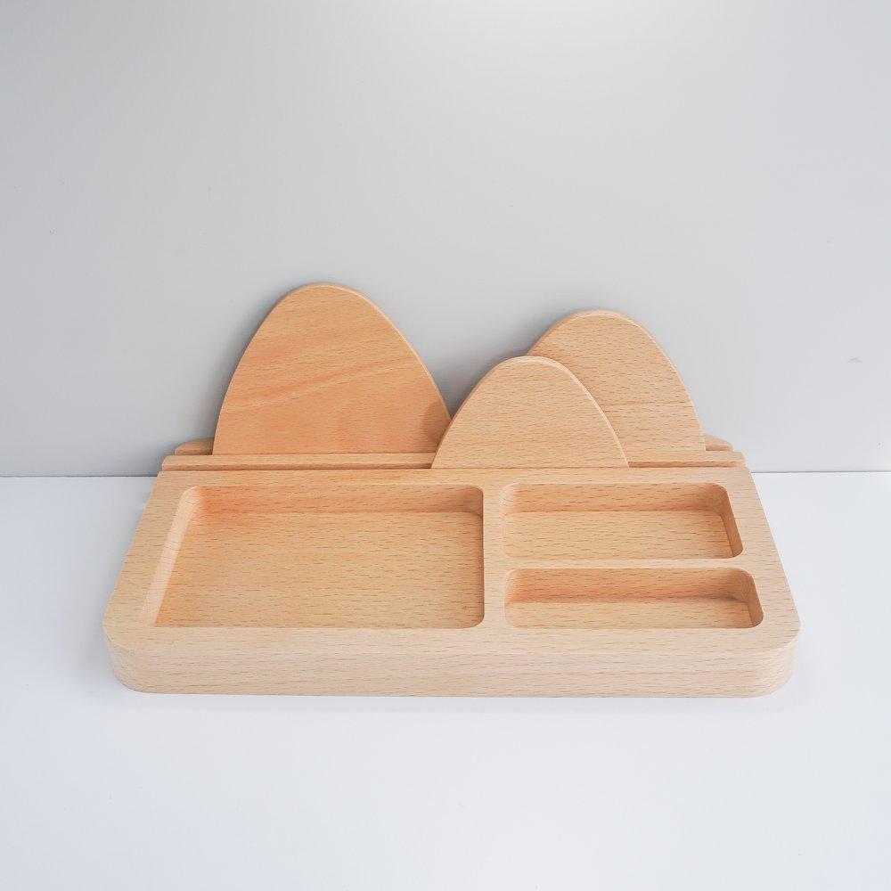 TOSMU 童心木 木製收納盤 - 山溫暖