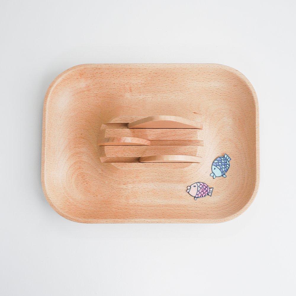 TOSMU 童心木 木製收納盤 -  山與海的距離