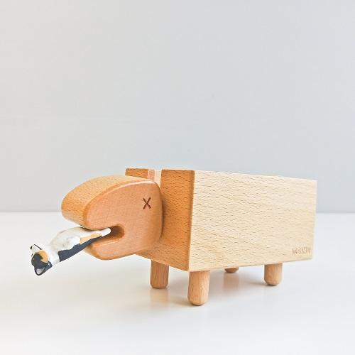 TOSMU 童心木|木製發票收納盒 - 長頸龍