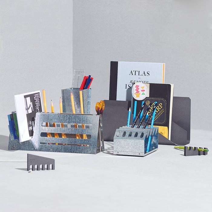 Hevo|桌上收納架 (中) Desk Machine M 鍍鋅銀