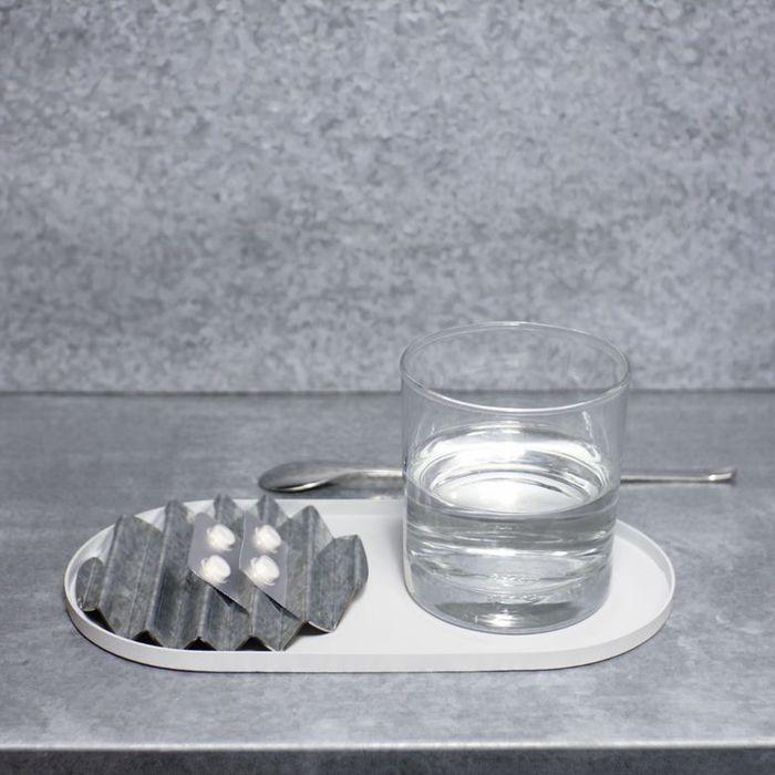 Hevo|波浪置物盤 Flux Tray 鍍鋅銀
