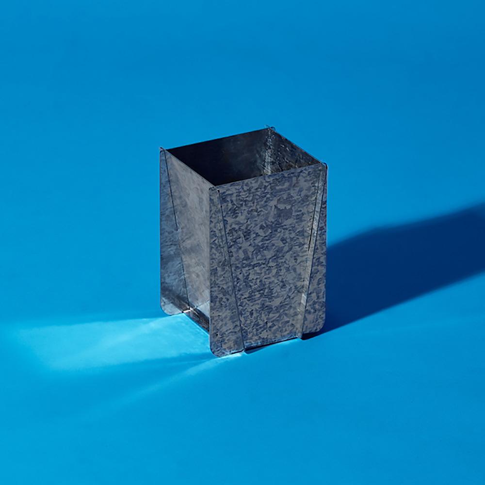 Hevo|工業幾何筆筒 Hopper 鍍鋅銀