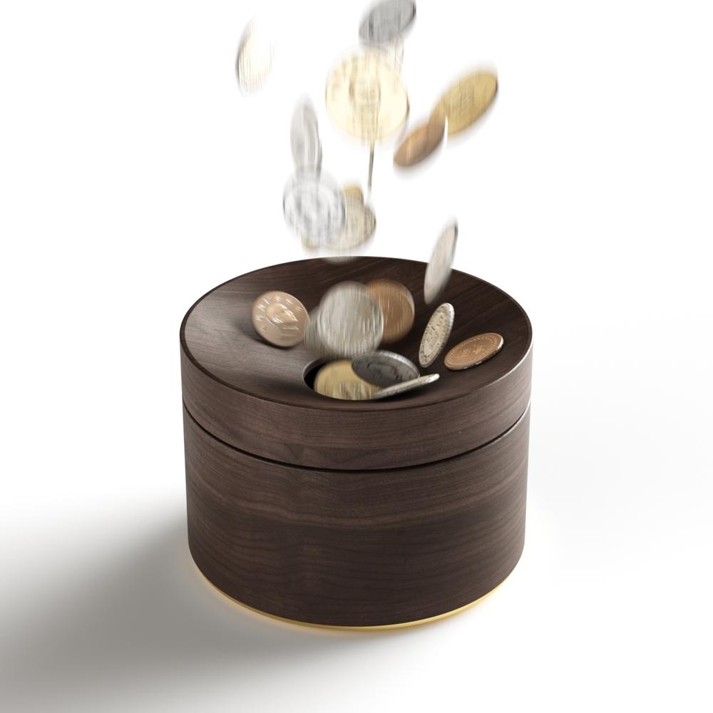mordeco 轉轉零錢盒 (深色)