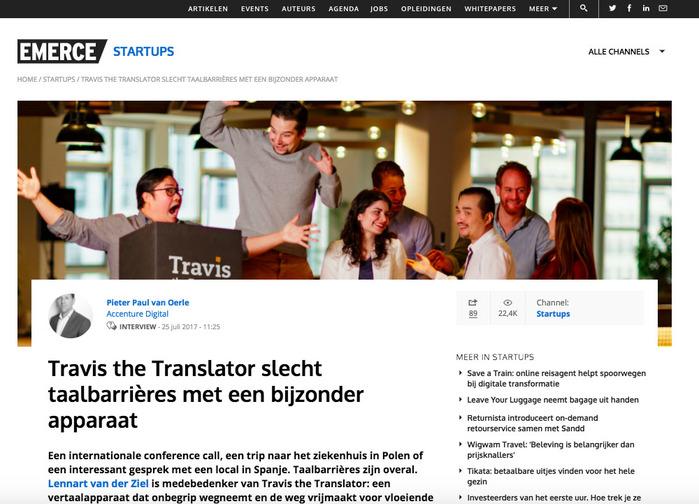 【集購】荷蘭Travis 80 種語言AI 雙向翻譯機