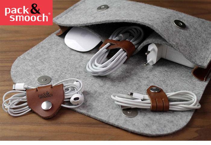 Pack & Smooch|真皮集線器 4 件組 (淺棕)