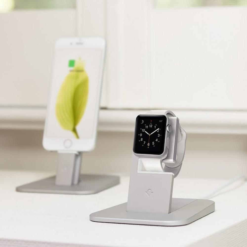 Twelve South│Apple Watch HiRise Stand 蘋果智慧手錶充電立架 (銀色)