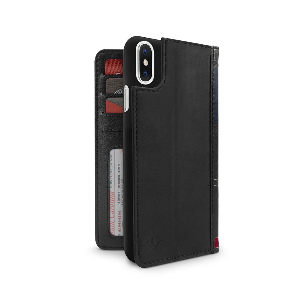 Twelve South|BookBook iPhone X 復古書仿舊皮革保護套 - 黑色
