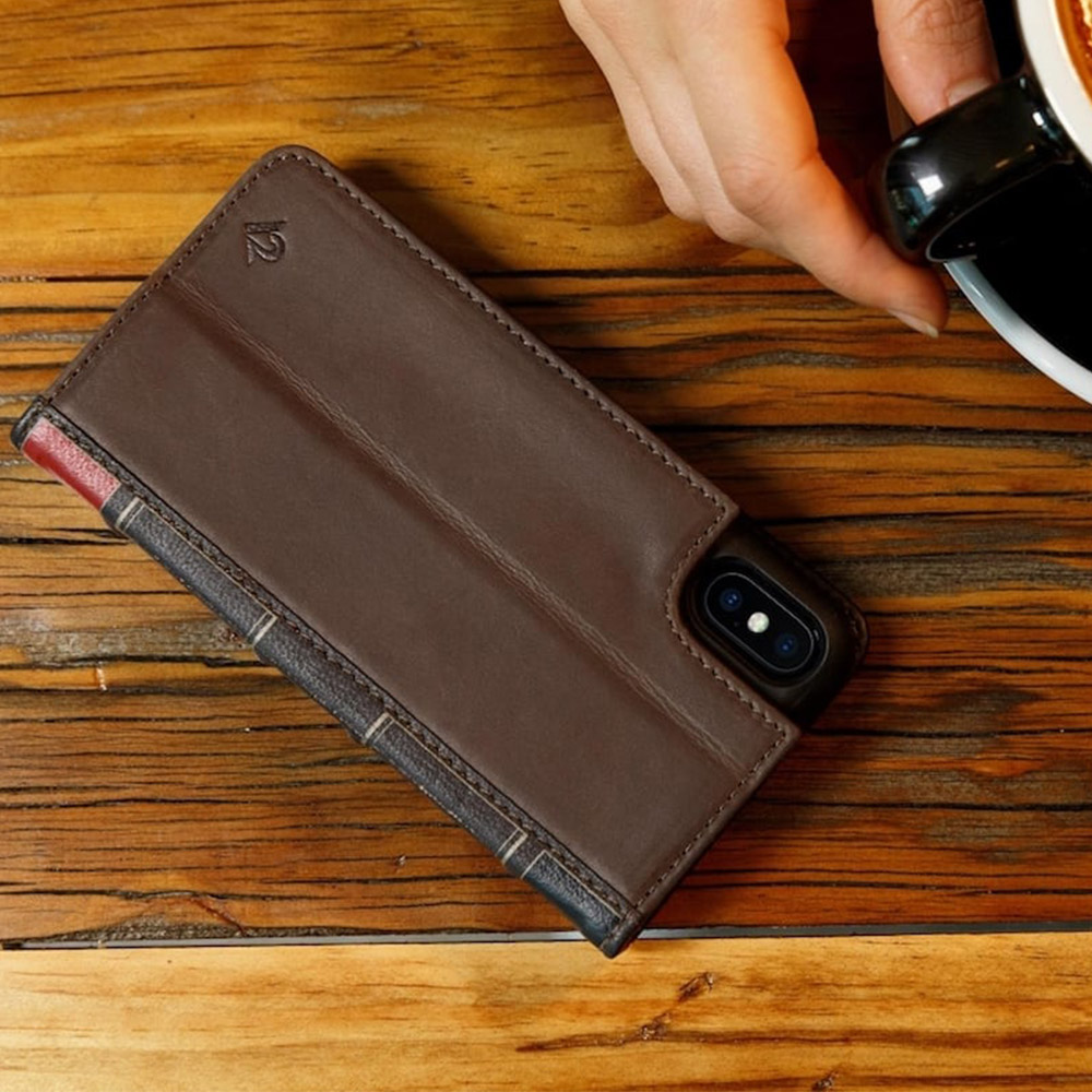 Twelve South BookBook iPhone X 復古書仿舊皮革保護套 (棕色)