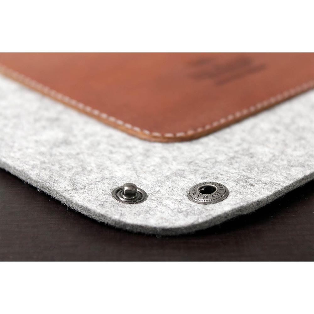Pack & Smooch|CORBY 羊毛氈真皮托盤 (石灰/淺棕)