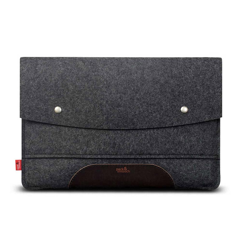 Pack & Smooch Hampshire MacBook Pro 15 吋 (2016 Touch ID)羊毛氈保護袋 (碳黑/深棕)