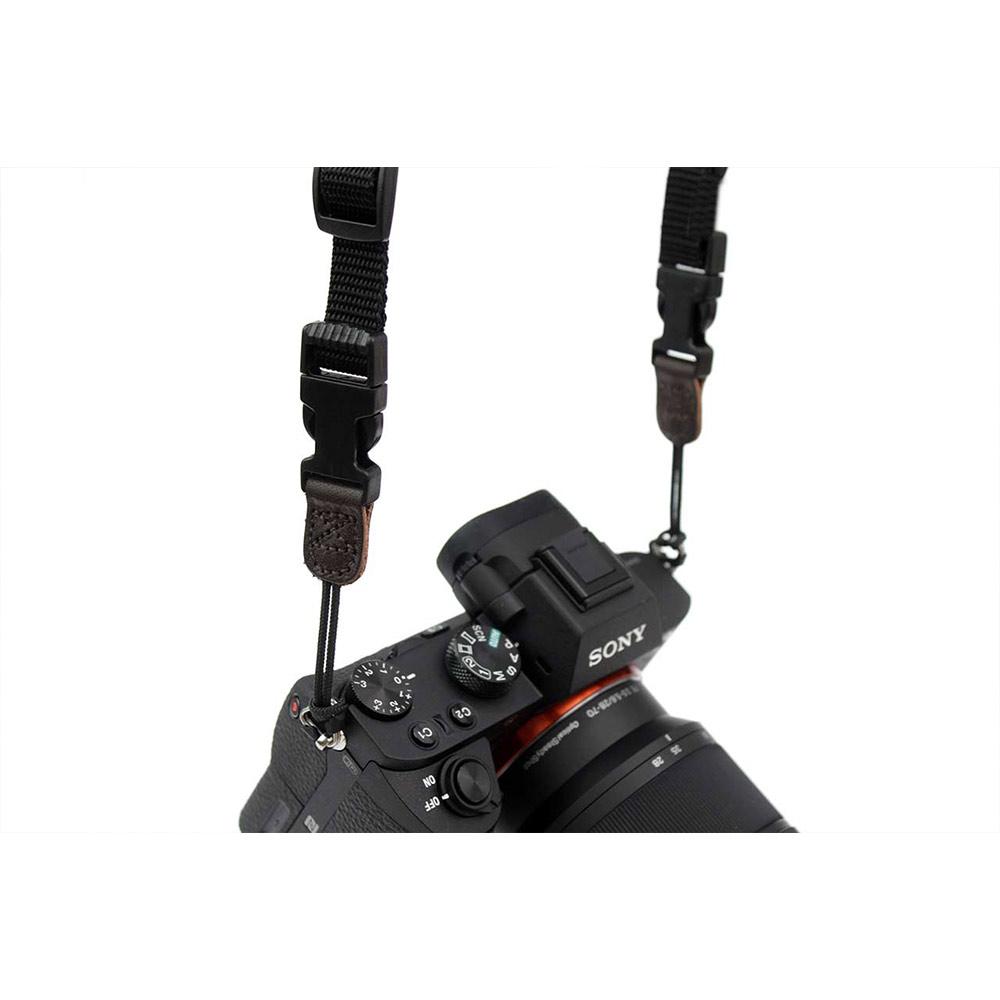 Pack & Smooch NAPPA 超舒適皮革相機頸繩 (深棕)