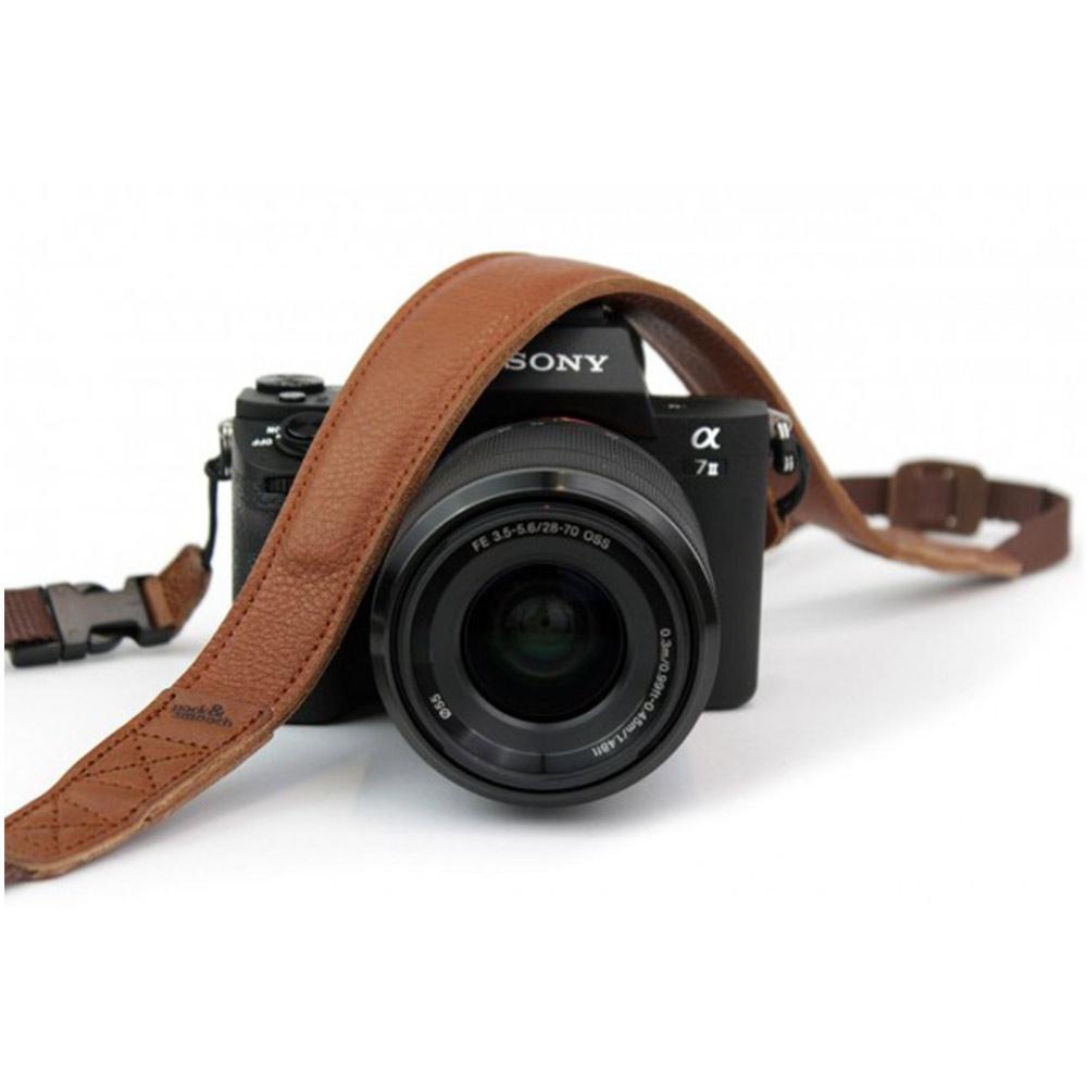 Pack & Smooch|NAPPA 超舒適皮革相機頸繩 (淺棕)