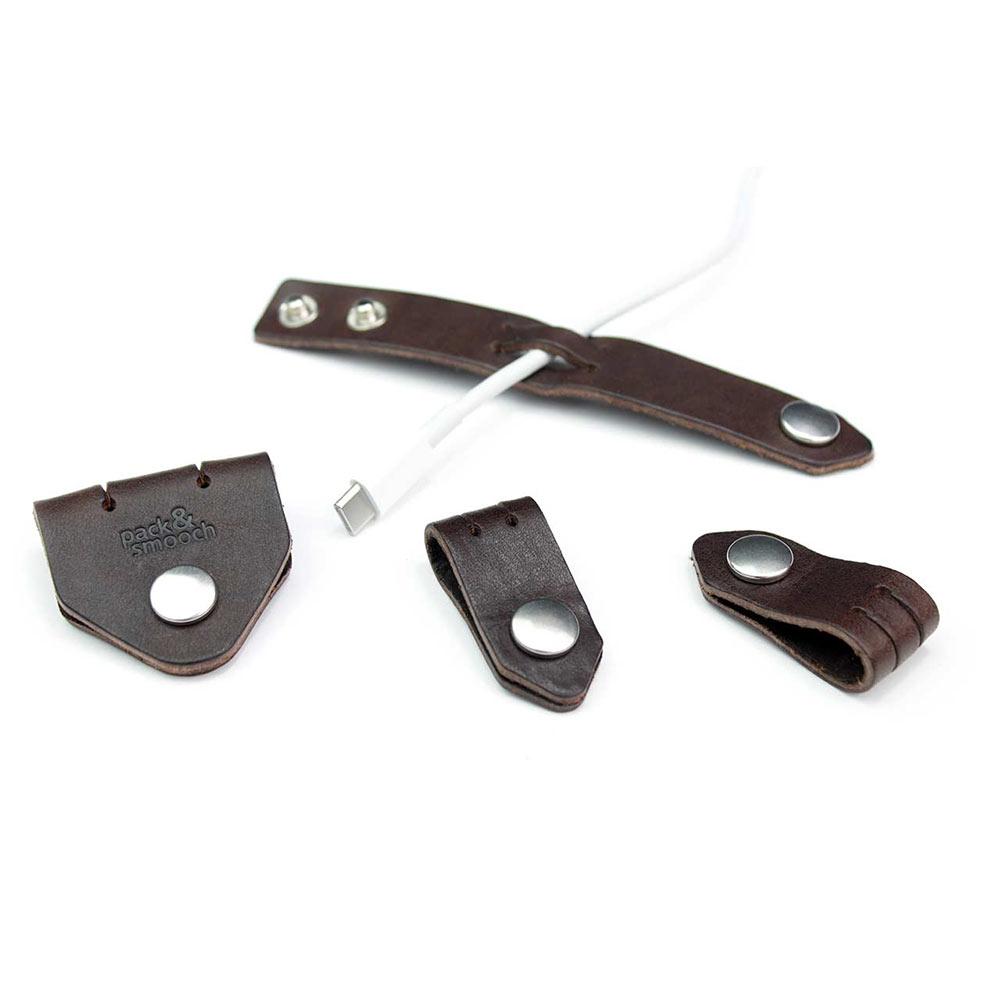 Pack & Smooch|真皮集線器 4 件組 (深棕)
