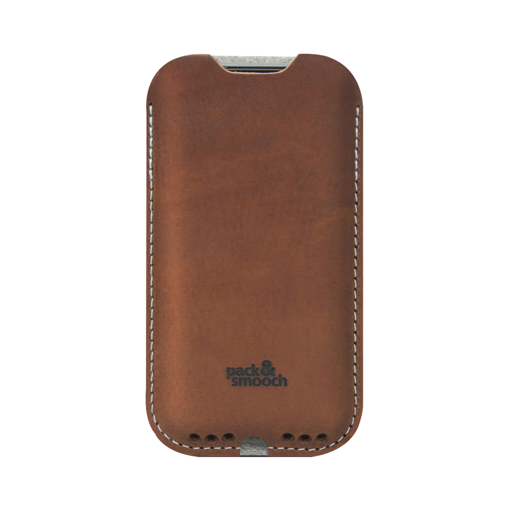 Pack & Smooch Kingston iPhone 6/6s/7 手工製天然羊毛氈皮革保護套 (石灰/淺棕)