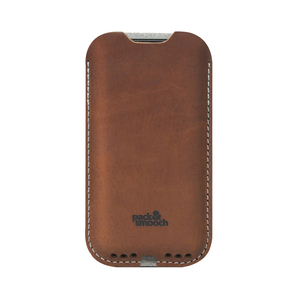 Pack & Smooch|Kingston iPhone 6/6s/7 手工製天然羊毛氈皮革保護套 (石灰/淺棕)