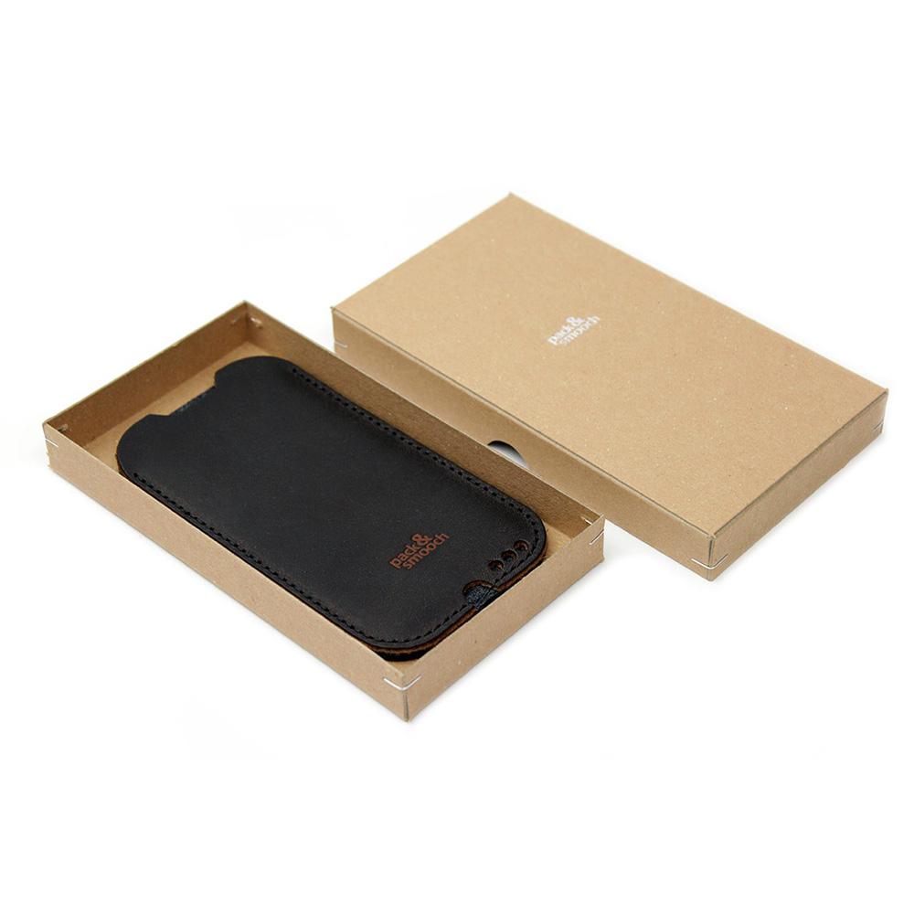 Pack & Smooch|Kingston iPhone 6/6s/7 手工製天然羊毛氈皮革保護套 (碳黑/深棕)