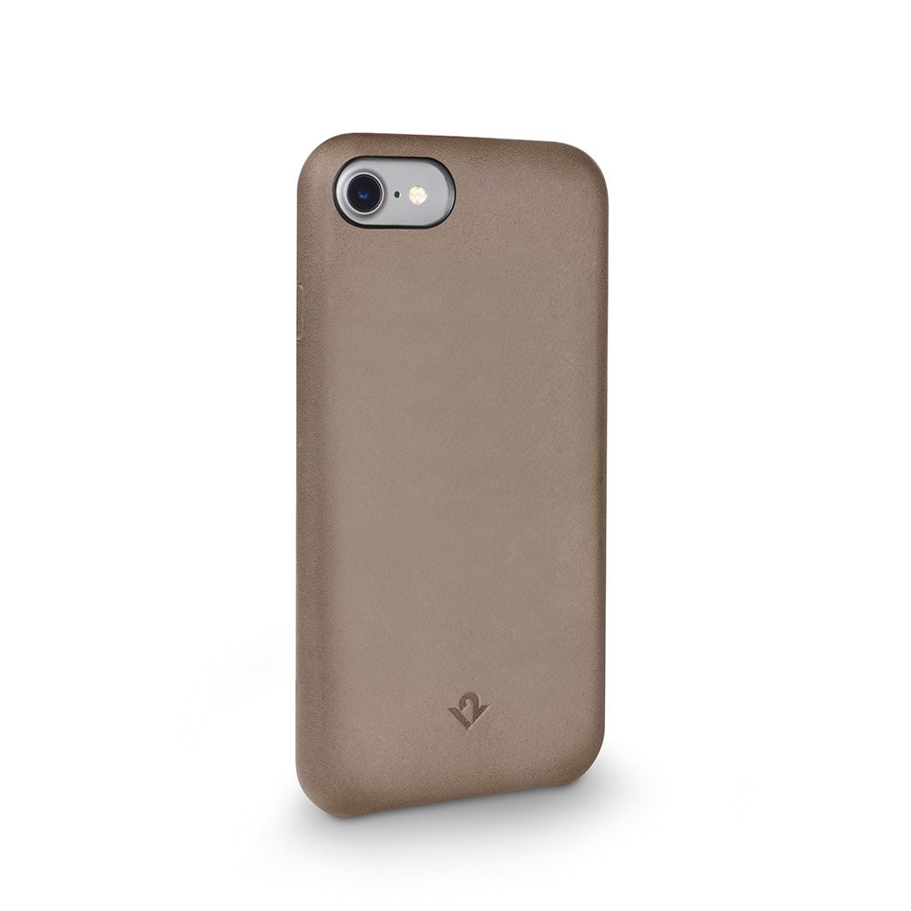 Twelve South|Relaxed Leather iPhone 8 皮革保護背蓋(灰褐色)