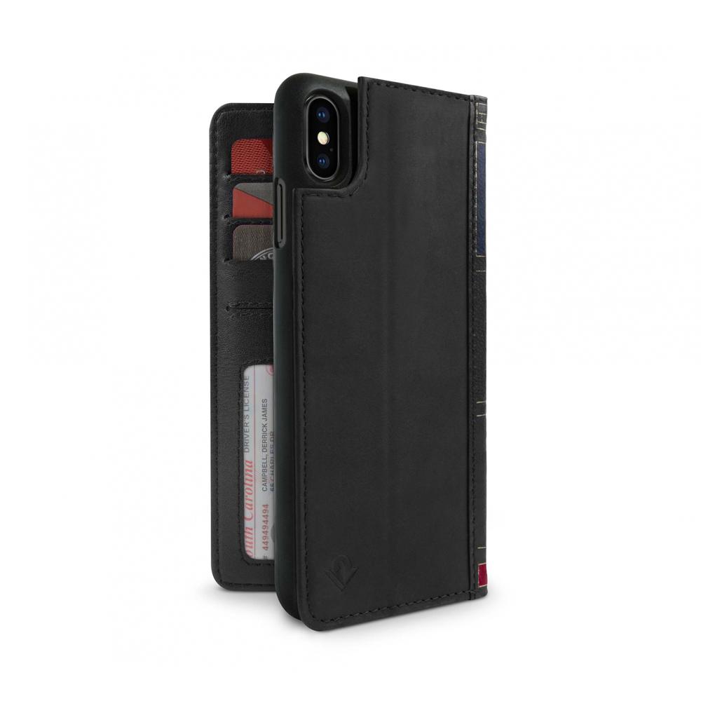 Twelve South|BookBook iPhone Xs Max 復古書仿舊皮革保護套 - 黑色