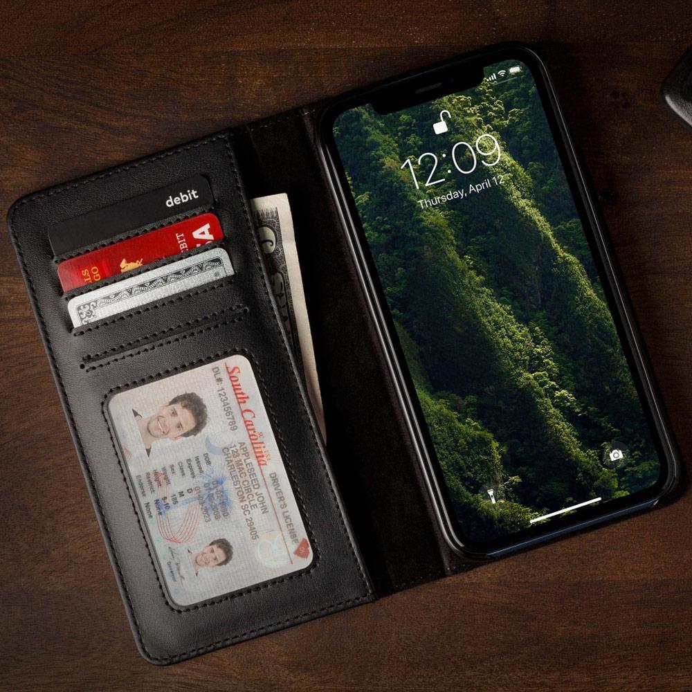 Twelve South|BookBook iPhone Xs Max 復古書仿舊皮革保護套 (黑色)