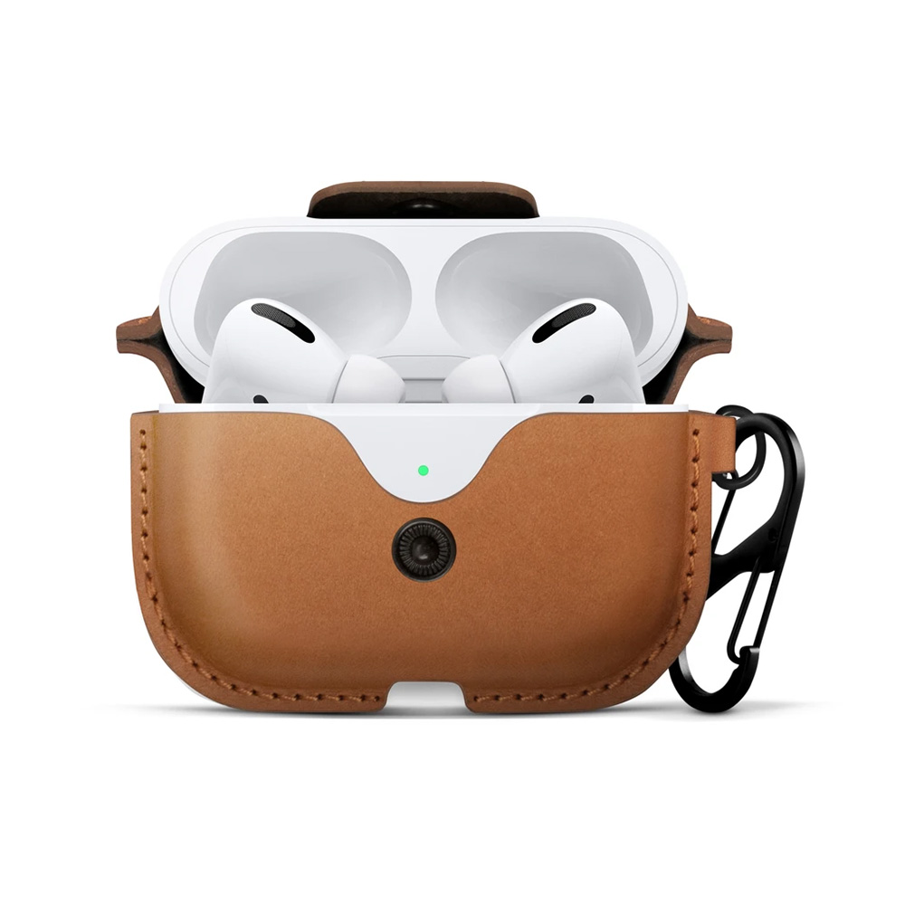 Twelve South|AirSnap for AirPods Pro 皮革保護套 - 干邑棕