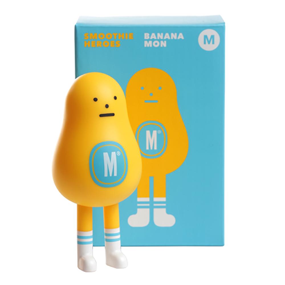Sticky Monster Lab 聯名公仔 Smoothie Heroes 香蕉 Bananamon