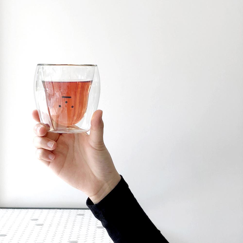 Sticky Monster Lab|Monster Glass 01 Redmon 雙層玻璃杯
