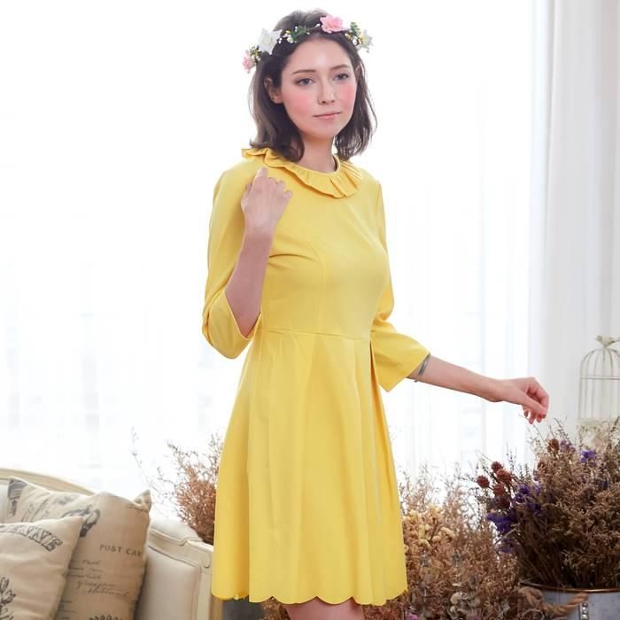 Bunny n Bloom|七分袖波浪裙襬洋裝 (小孩/大人版)