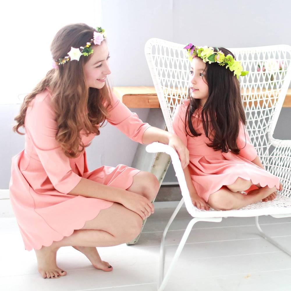 Bunny n Bloom|七分袖波浪裙襬洋裝 (大人版)