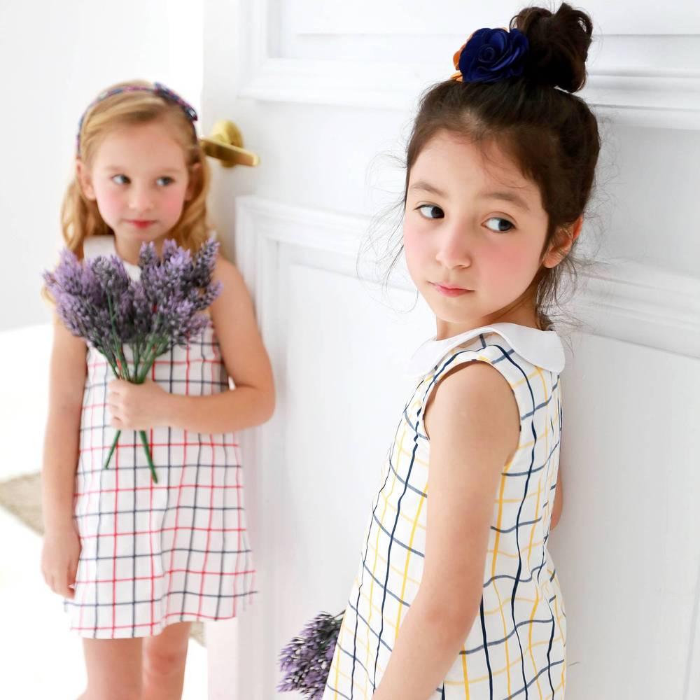Bunny n Bloom| 100%純棉英倫格紋洋裝 (小孩/大人款)
