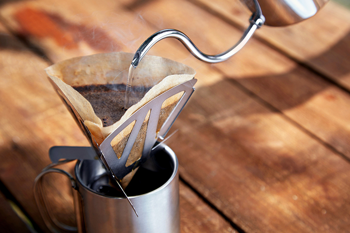 源源鋼藝 uanuan Tierce 咖啡隨行濾杯+水洗牛皮套 組合