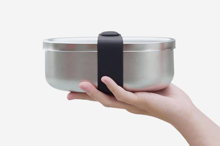 源源鋼藝 uanuan Bendong 便當盒+隔熱蛋殼(鐵蛋黑) 組合