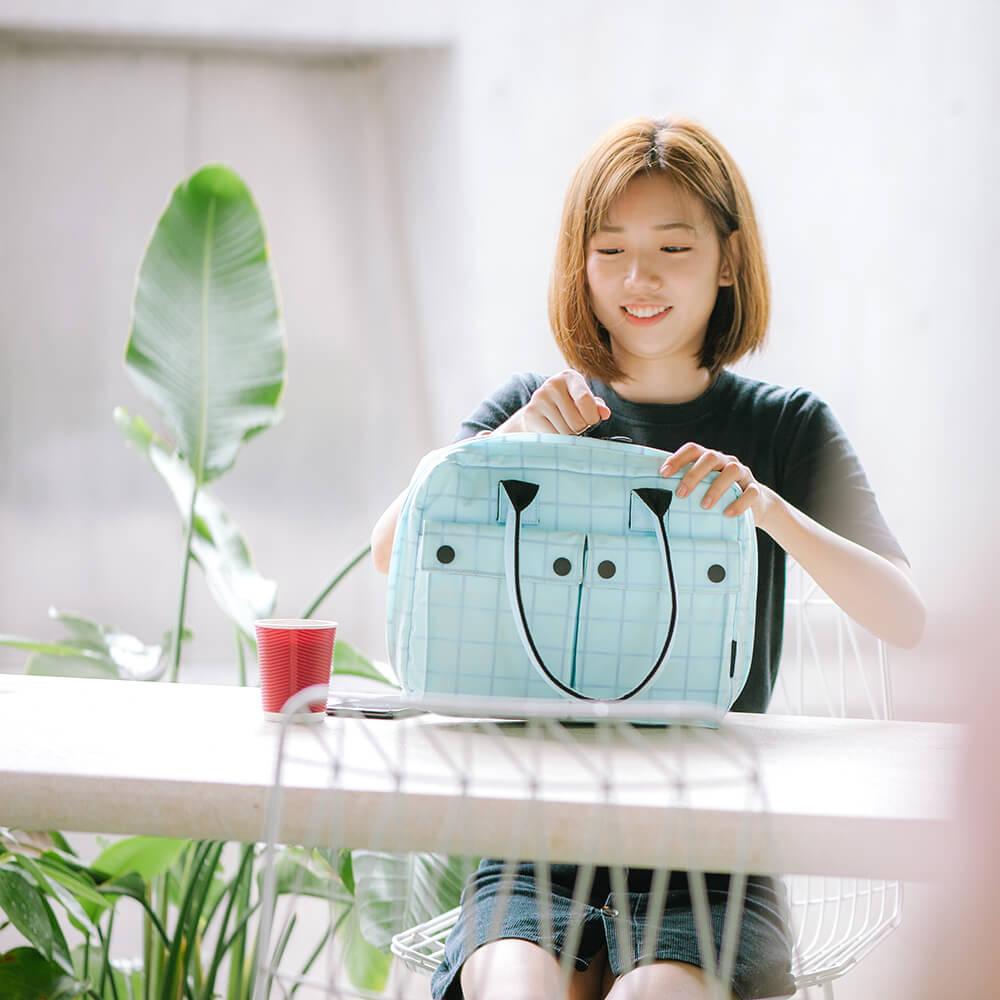 胡椒鹽 PEPPER&SALT│涼感POLO筆電包(馬卡龍 / 11吋)