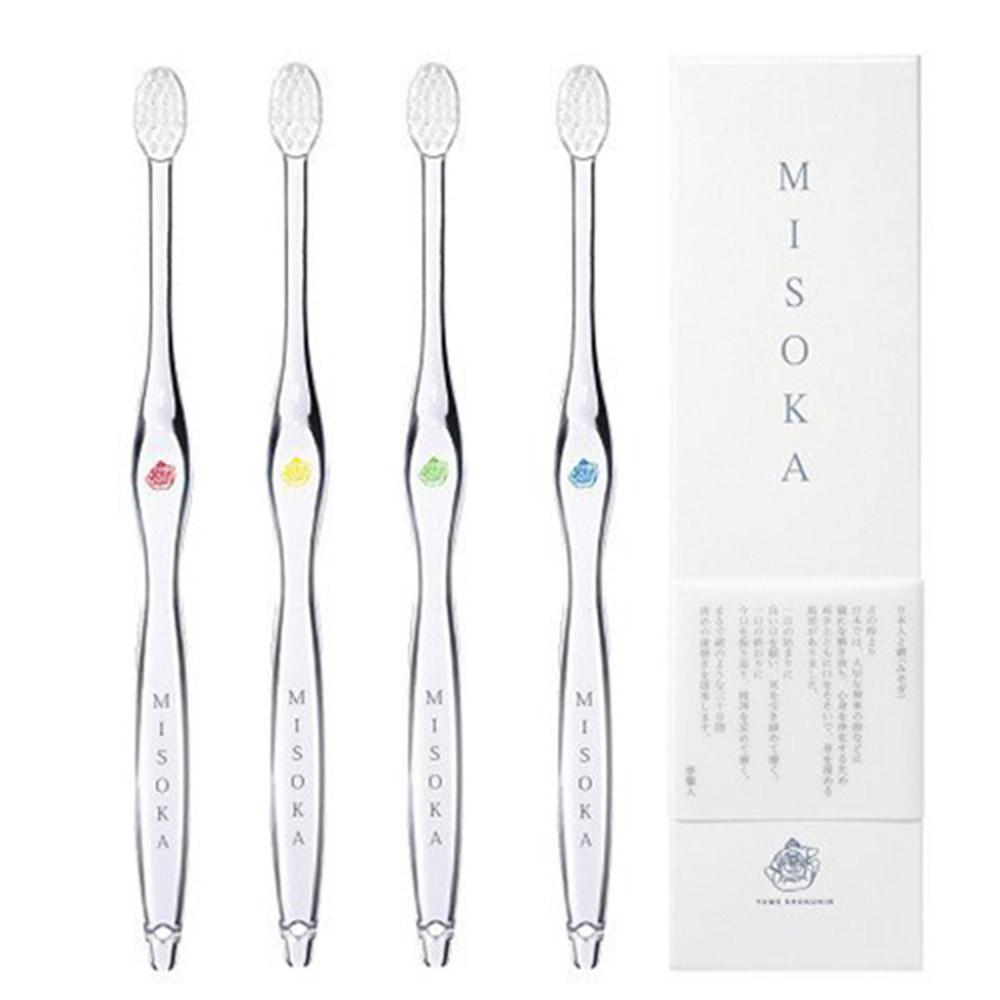 MISOKA │ 經典款頂級免沾牙膏牙刷 (日本製 /朱色 / 成人)