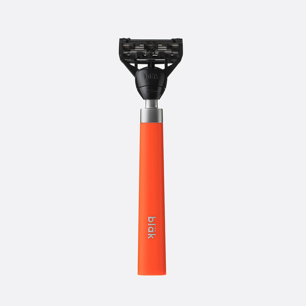 bläk|blak經典刮鬍刀禮盒套組2.0版(夜光橙)