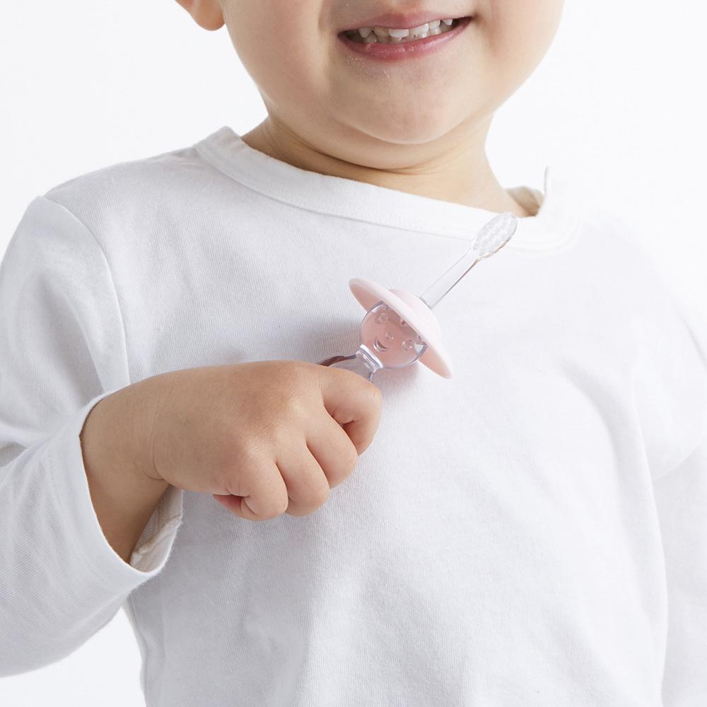MISOKA|for Kids 兒童免沾牙膏牙刷 (日本製 / 粉色)