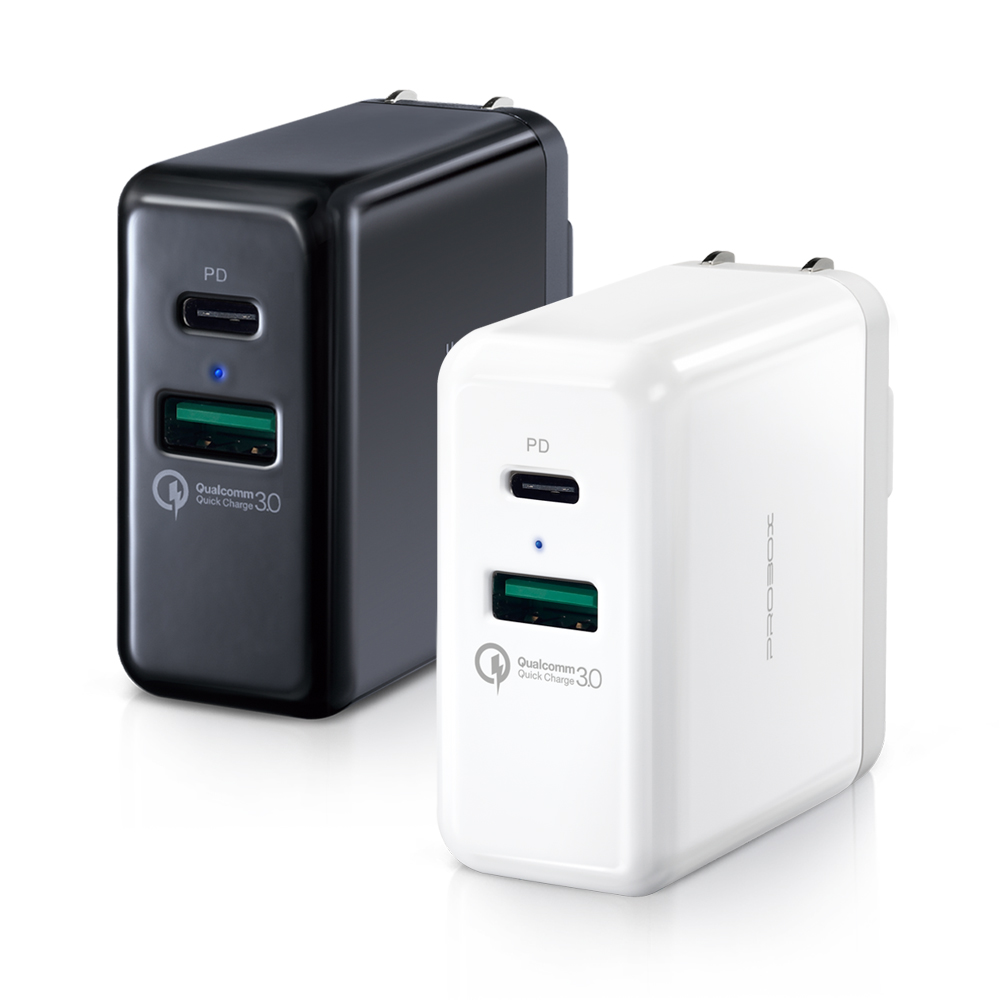 PROBOX | Type A+C 雙孔 PD/QC3.0 USB急速充電器