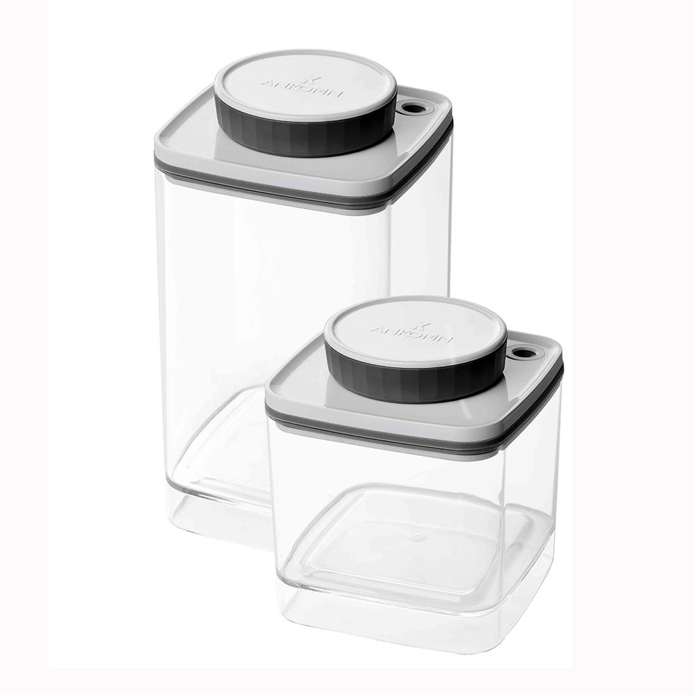 ANKOMN|Turn-N-Seal真空保鮮盒 1200+600ml(2入組)