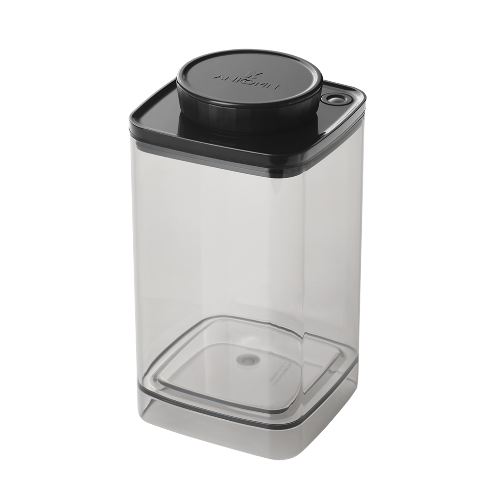 ANKOMN|Turn-N-Seal真空保鮮盒 1200+600ml 半透明黑 (2入組)