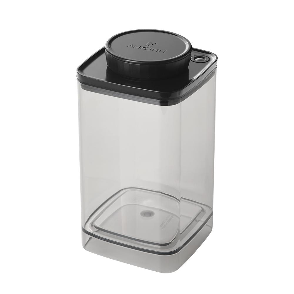 ANKOMN Turn-N-Seal 真空保鮮盒 1200ml 半透明黑 (1入)